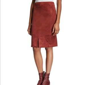 NEIMAN MARCUS Plus Size Faux Suede Skirt, NWT